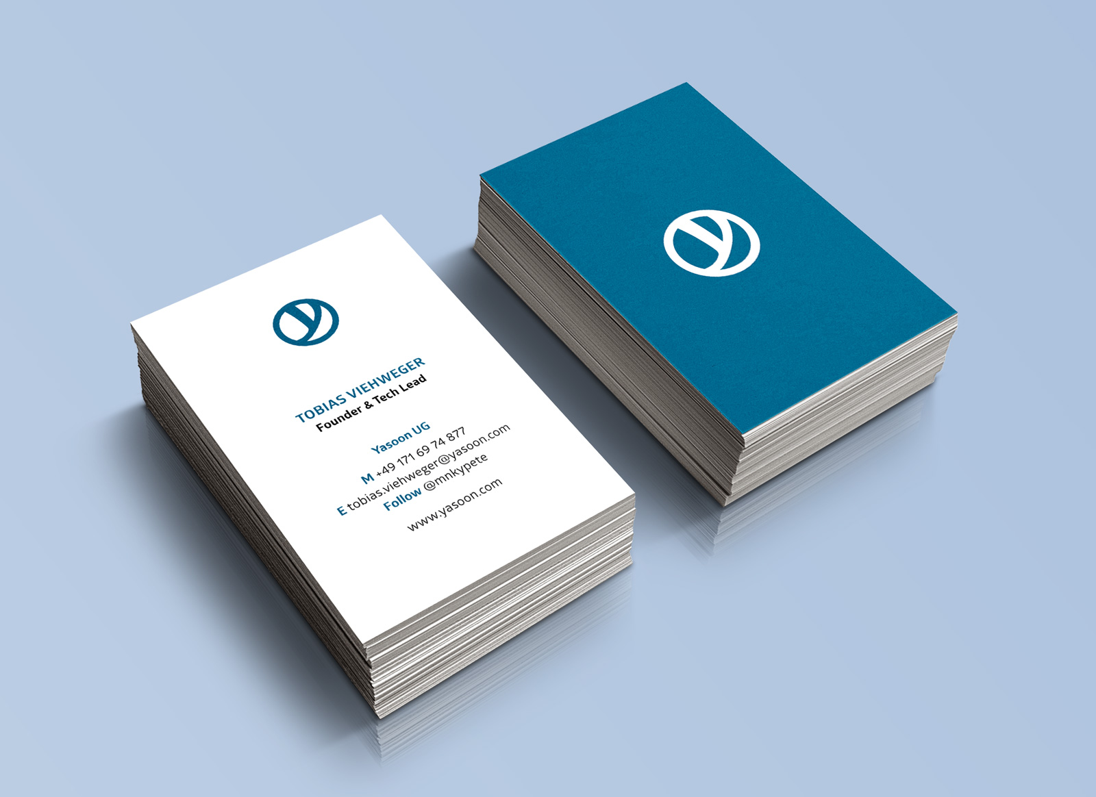 Yasoon Geschäftsausstattung Mit Logo Rollup Flyer Etc